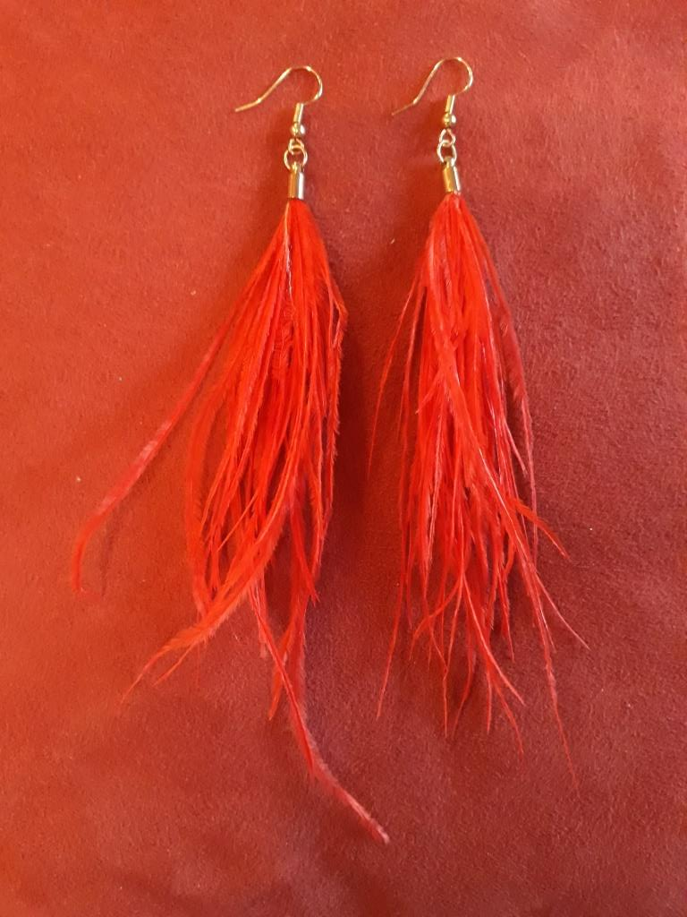 shamanic earrings red