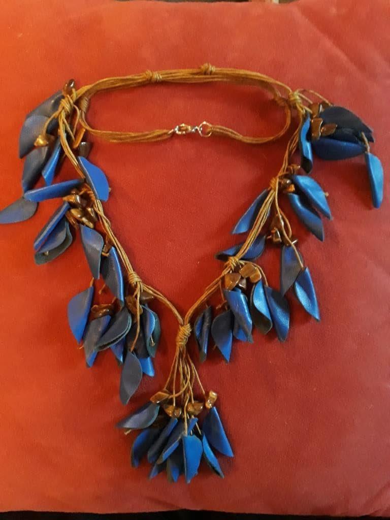shamanic necklace blue
